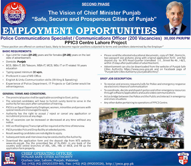 Jobs in Punjab Police as Communication Specialist