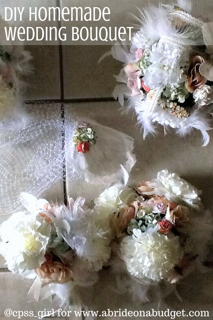 Real Life Wedding Sarahs Diy Homemade Wedding Bouquets A Bride