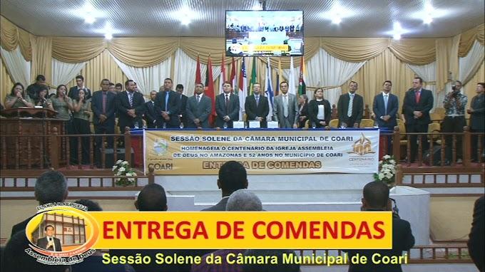 CÂMARA MUNICIPAL DE COARI HOMENAGEIA ASSEMBLEIA DE DEUS PELO SEU CENTENÁRIO