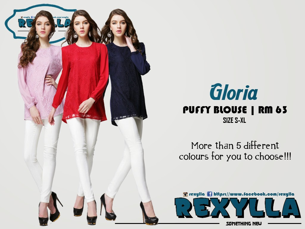 rexylla, blouse, puffy blouse, lace blouse, gloria collection