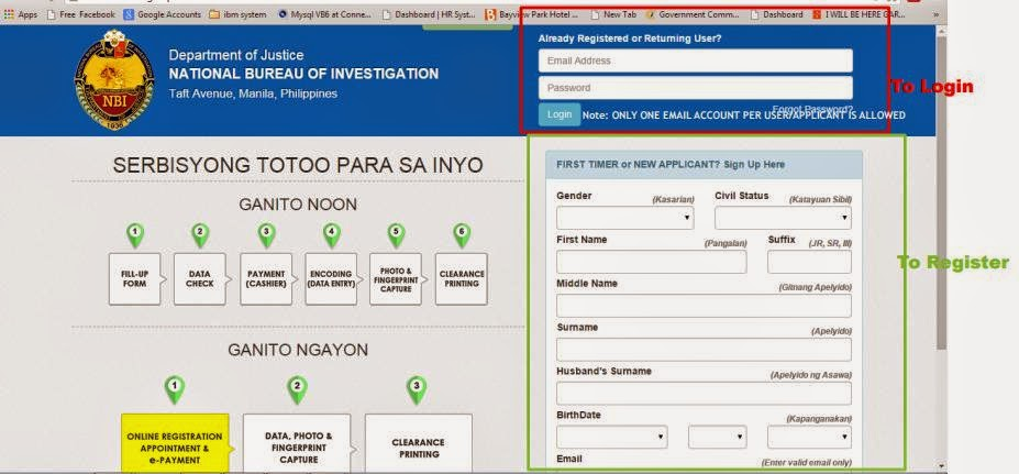 How To Apply NBI Clearance Online Application Form
