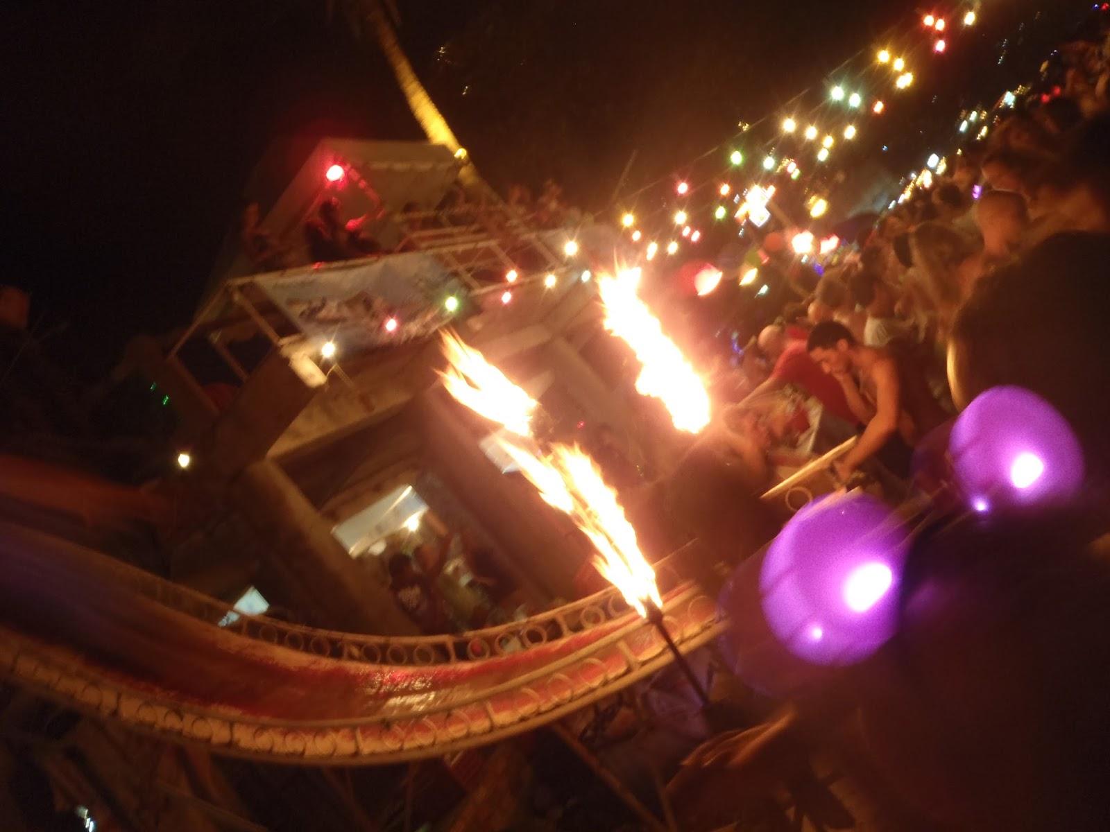 Ko Pha Ngan Thailand Full Moon Party Fire Slide