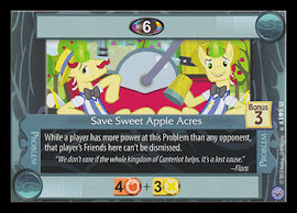 My Little Pony Save Sweet Apple Acres Premiere CCG Card