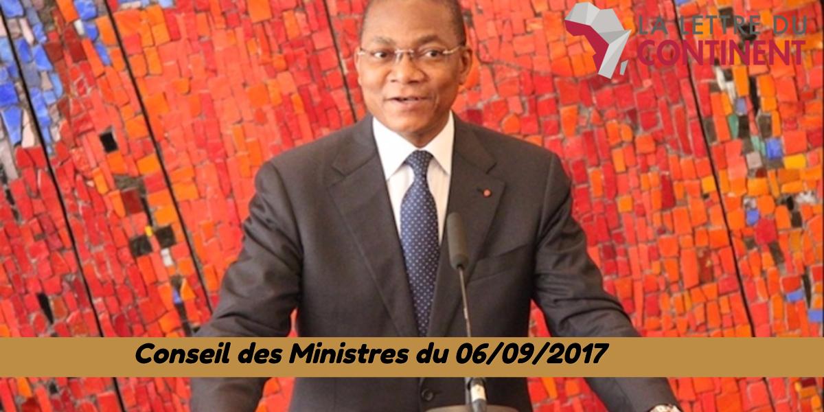 Projets de décrets adoptés au Conseil des Ministres du 06/09/2017