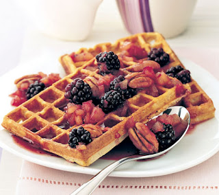 Waffles with Blackberry Sauce Recipe