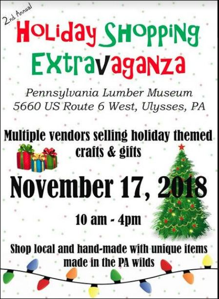 11-17 Holiday Shopping Extravaganza, Lumber Museum
