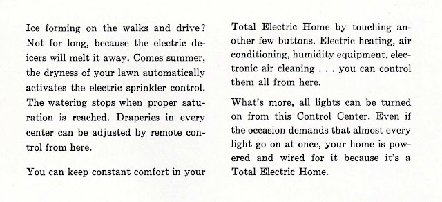 Vintage images of ELECTRICITY - 1959 electric home control