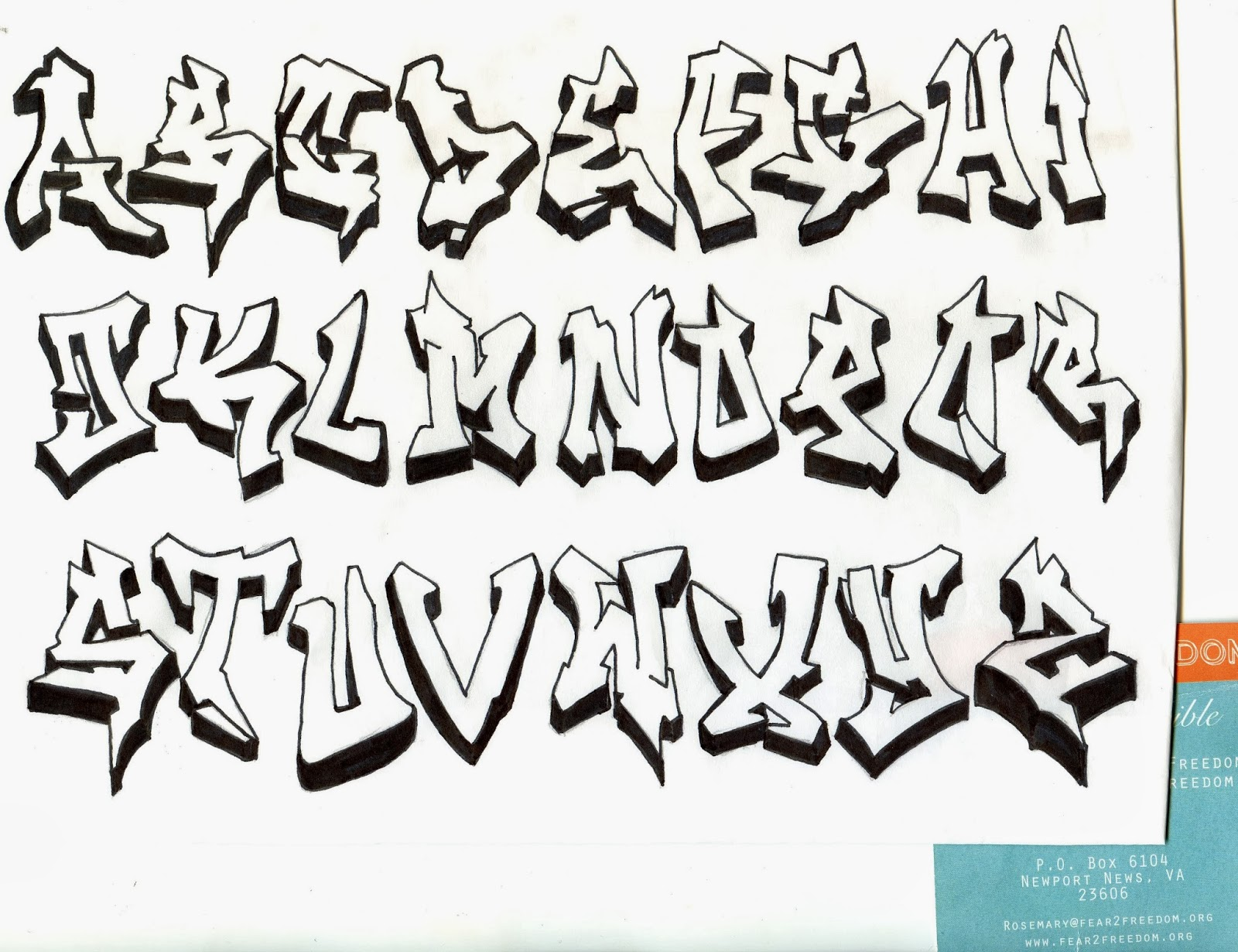 Graffiti Wall: Graffiti Alphabets
