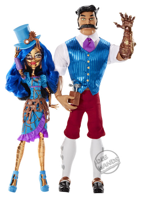 san diego comic-con 2016 mattel exclusive MONSTER HIGH ROBECCA STEAM and HEXICIAH STEAM DOLLS