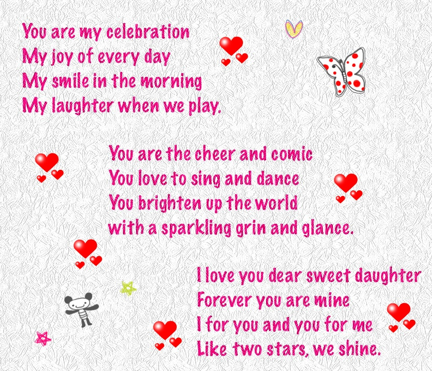 Daughter S 9th Birthday Quotes: Happy Birthday Poems For Daughter From Mom And Dad