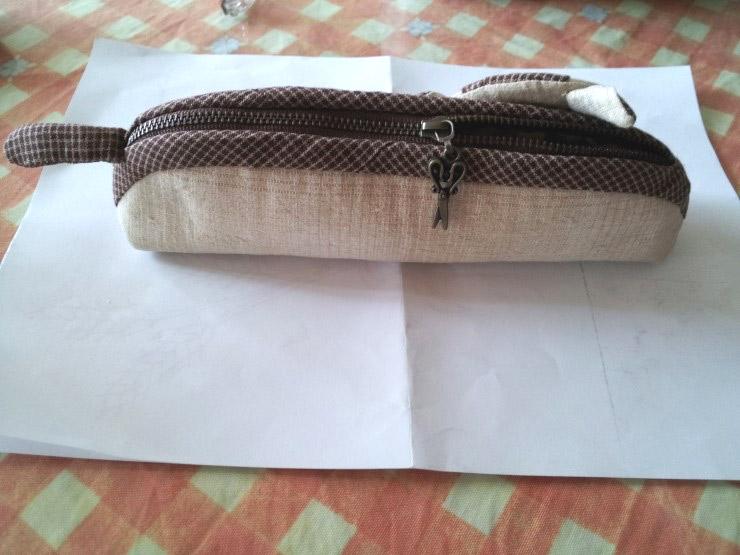 How to make kitten pencil bag step by step DIY tutorial instructions. Как сделать сумочку-котенка (пенал), инструкции