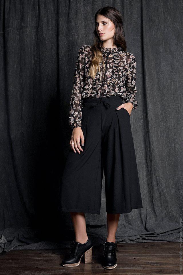 Pantalones Cropped otoño invierno 2016. Moda en ropa de mujer. Sans Doute moda invierno 2016.