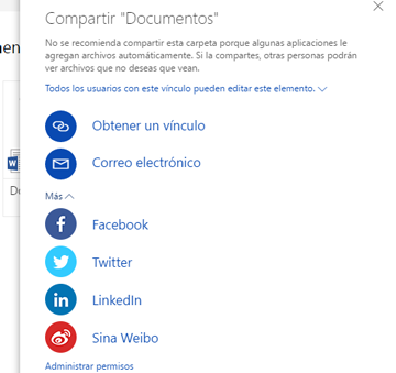 compartir documentos onedrive