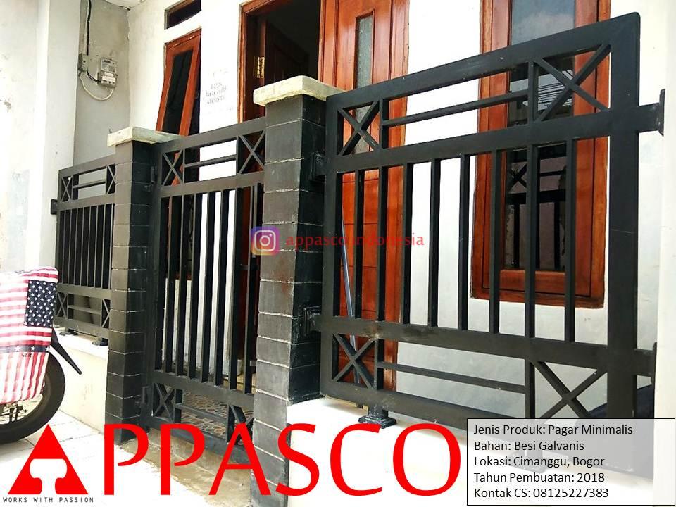 Pagar Minimalis Modern Besi Galvanis di Cimanggu Bogor