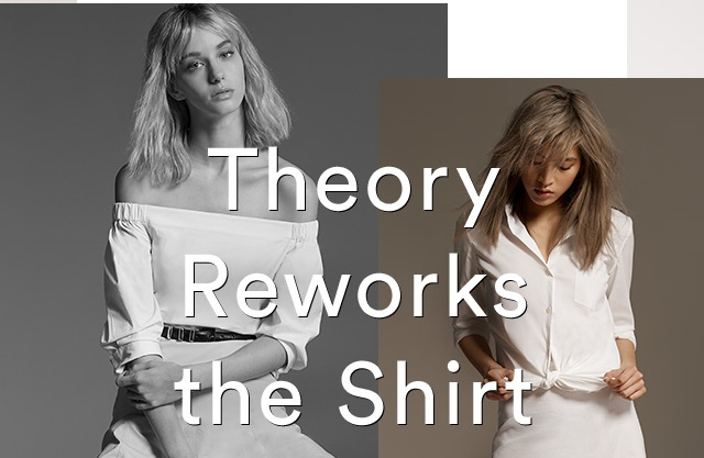 Theory women's white shirts