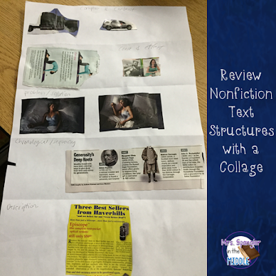 Here's a creative way to review text structures in middle school!  #teaching #languagearts