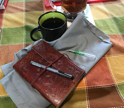 January 12, 2019 Spending the morning writing, crafting and talking over a good cup of coffee