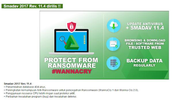 Smadav Terbaru Mampu Mencegah Serangan Ransomware WannaCry 1.0 dan Wanna-Cry 2.0