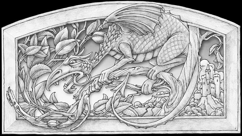 Whimsical wood pyrography tutorial 39 young dragon hiding 39 for Pyrography templates free