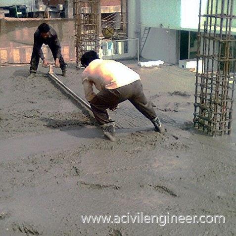 concrete preparation, pouring concrete