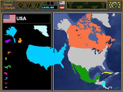 Пъзел на Северна Америка