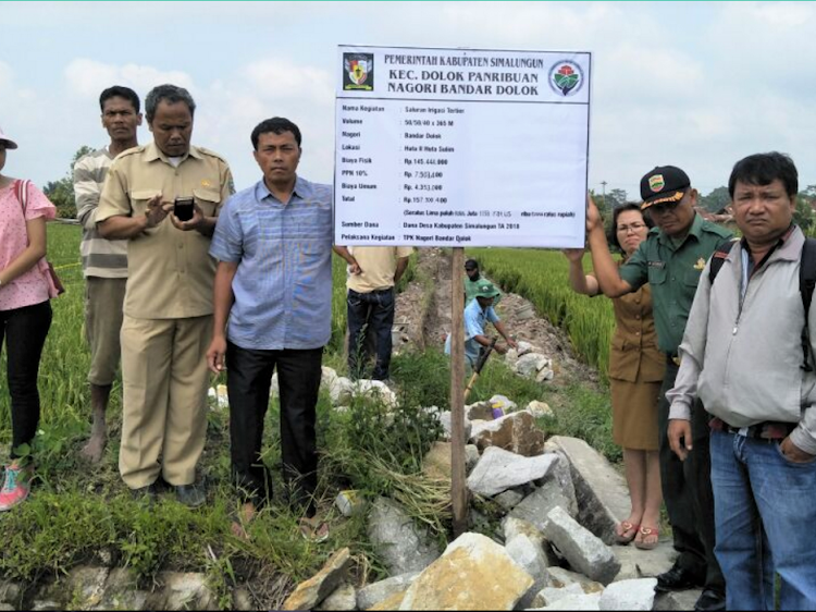 Pangulu (Kepala Desa) Bandar Dolok Anggarkan Rp. 157.300.400,- Untuk Pembangunan Saluran Irigasi Tersier