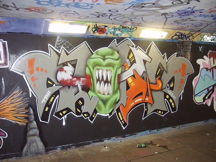 Cool Halloween Graffiti Wallpaper Graffiti Tutorial