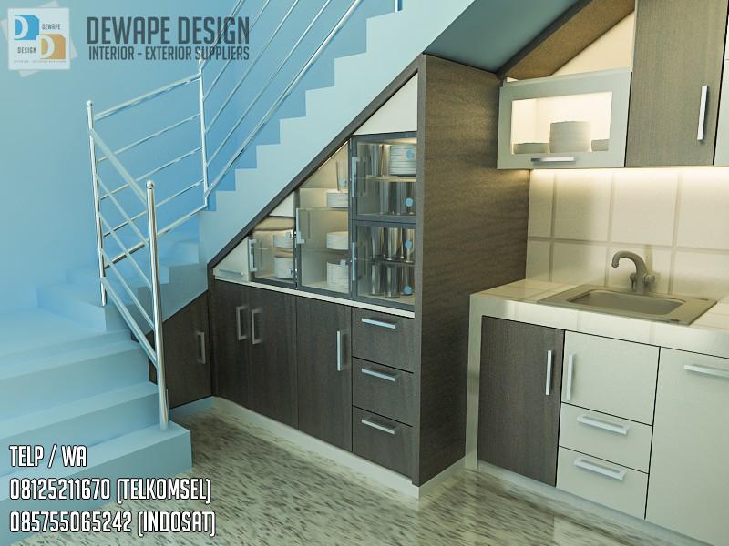 Model Kitchen Set Di Bawah Tangga Di Kediri Design Interior Dapur