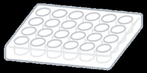 細胞培養プレートのイラスト(24ウェル)