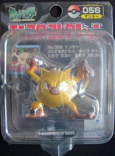 Mankey Pokemon figure Tomy Monster Collection black package series