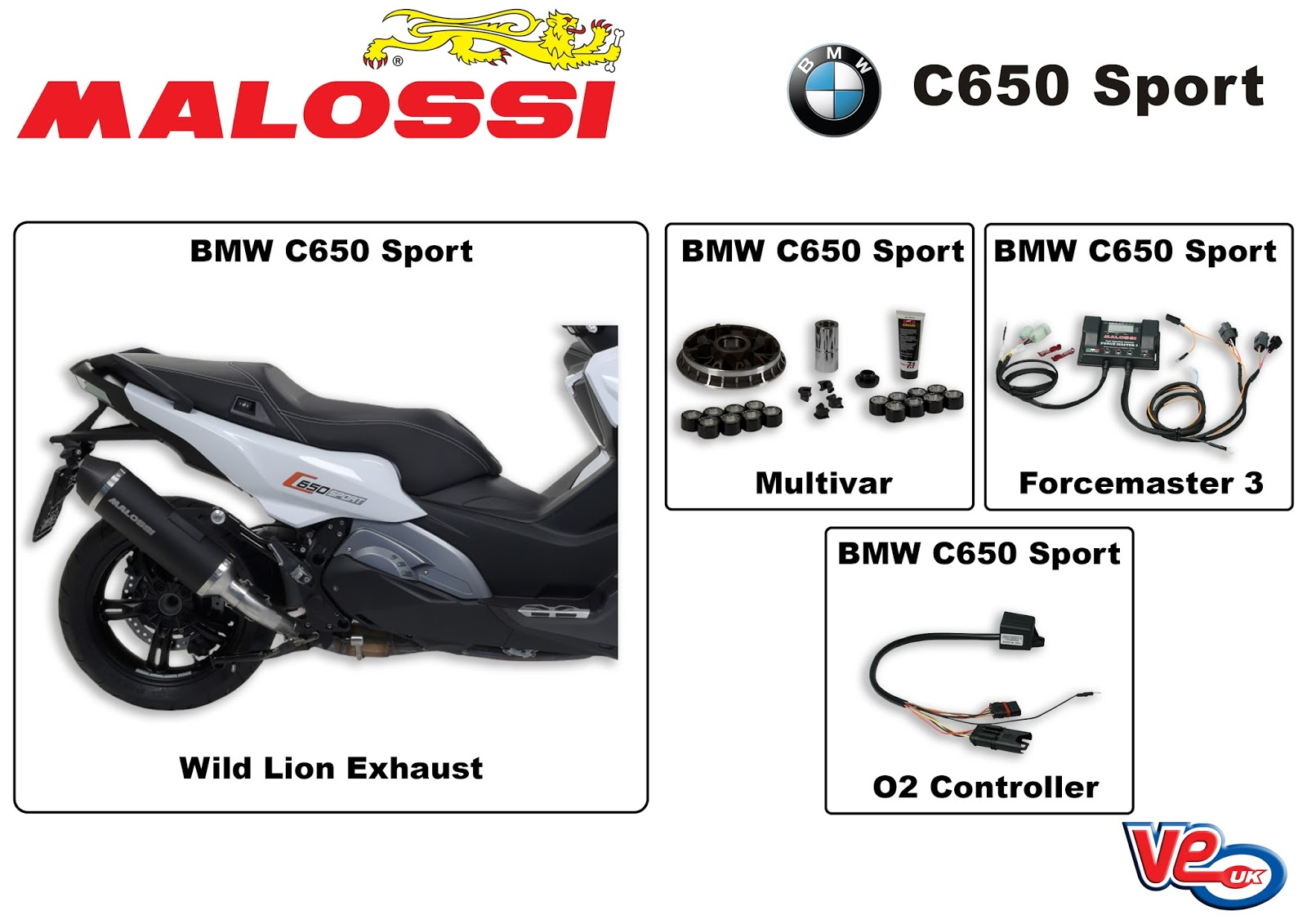 ve scooter spares new malossi tuning products for bmw. Black Bedroom Furniture Sets. Home Design Ideas