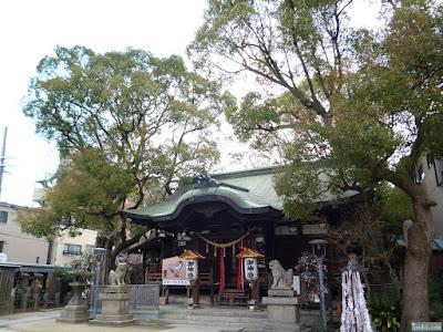 海老江八坂神社拝殿