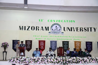 MIZORAM UNIVERSITY 13TH CONVOCATION 2018