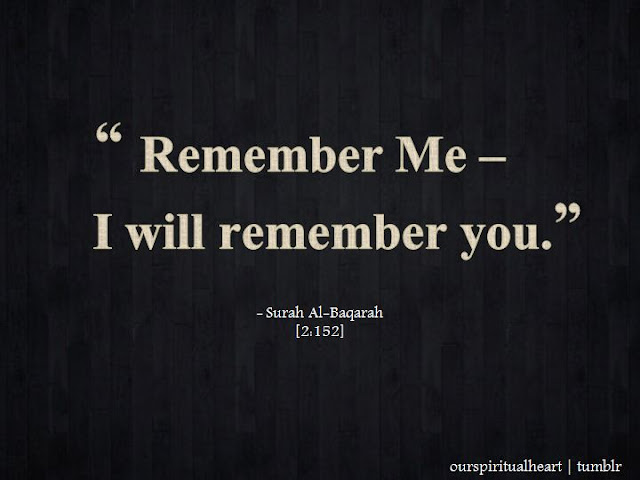 Allah Quotes - Remember Me - I will remember you