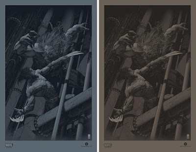 Wolverine vs. Sabretooth Screen Print by John Guydo x Bottleneck Gallery x Marvel