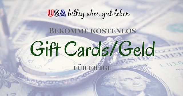 Einfach und schnell kostenlose Gift Cards erhalten