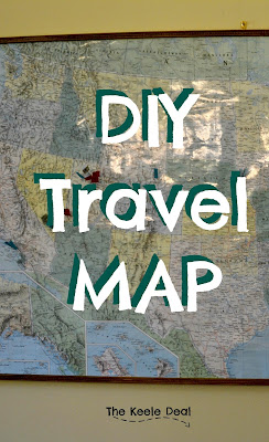 DIY Travel Map to show off the places you have visited