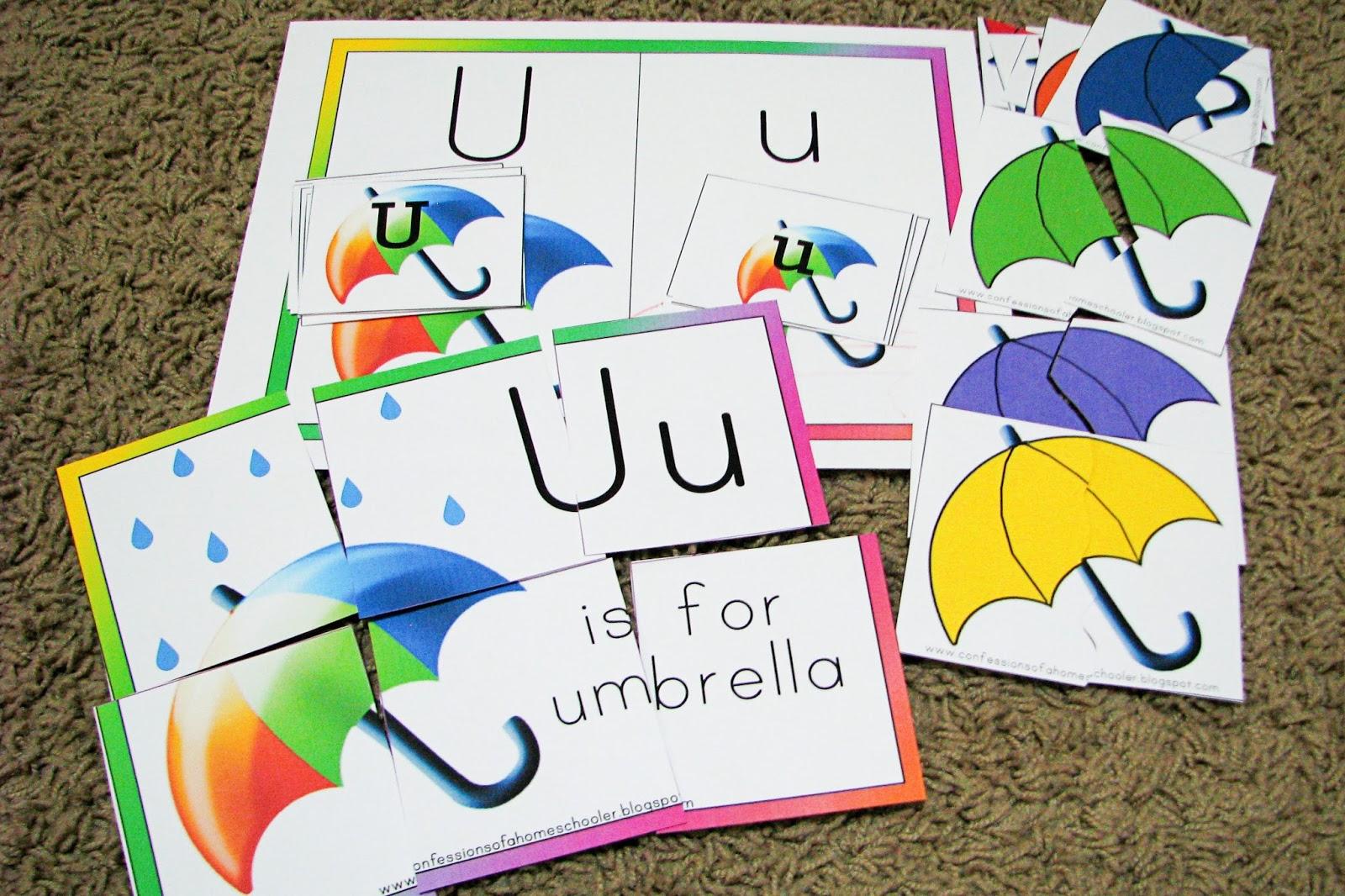 Mommy S Little Helper Letter U Umbrella Preschool Theme