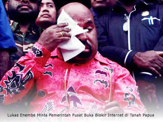 Lukas Enembe Minta Pemerintah Pusat Buka Blokir Internet di Tanah Papua