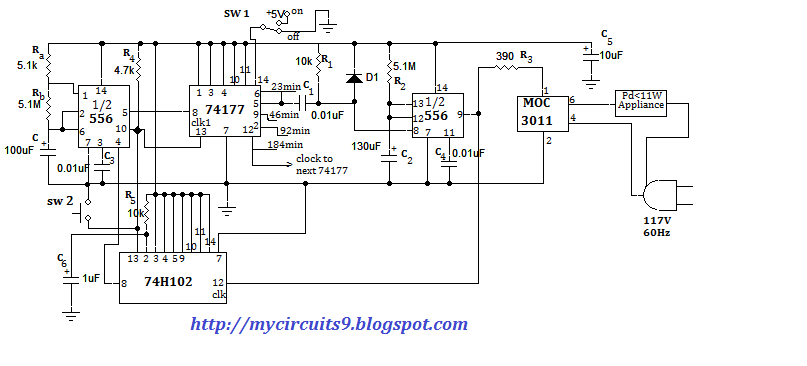 TIME BASED APPLIANCES CONTROLLING WITHOUT MICROCONTROLLER