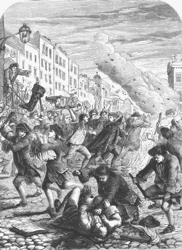 Riot at the burning of No 45