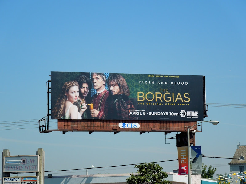 The Borgias season 2 Showtime billboard
