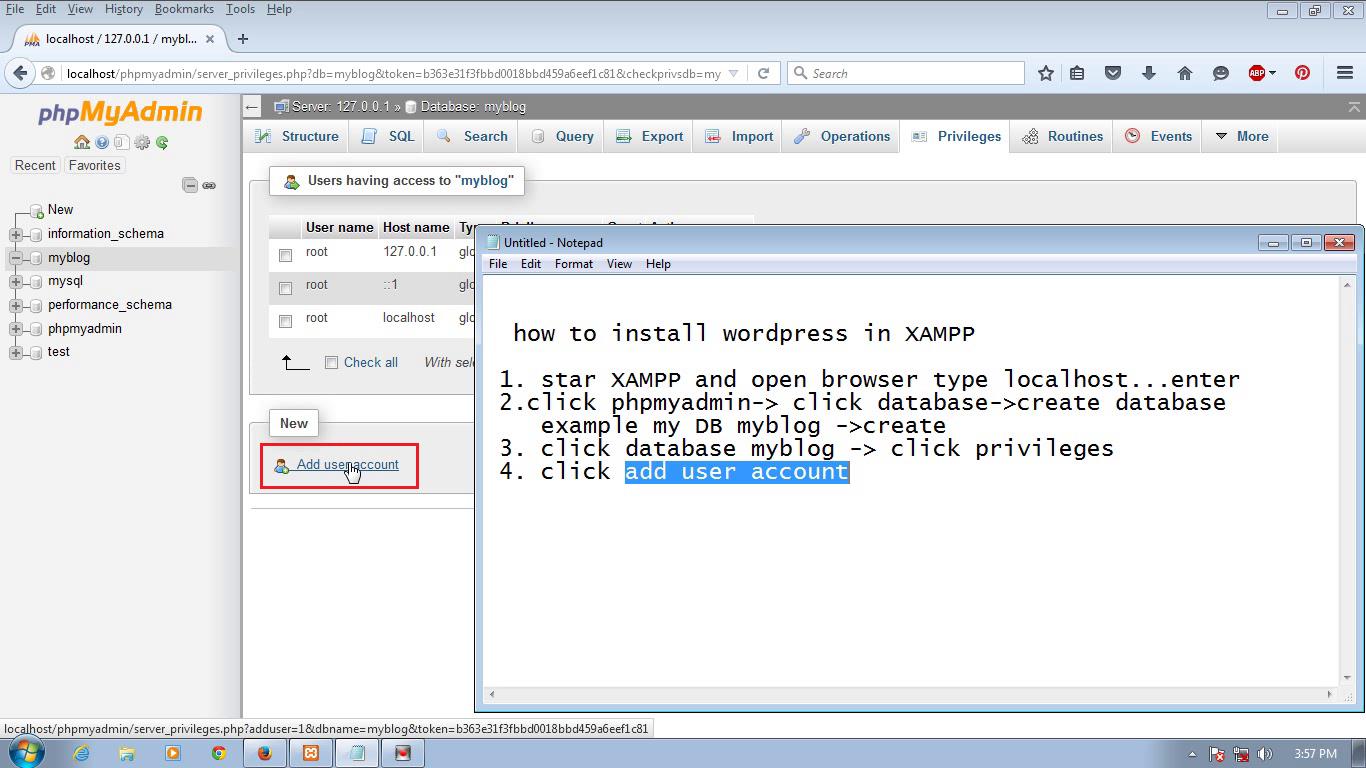 How to install XAMPP and Easy to install wordpress in XAMPP
