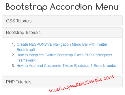 bootstrap-accordion-menu