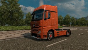 Mercedes Actros 2014 Orange Plastic skin