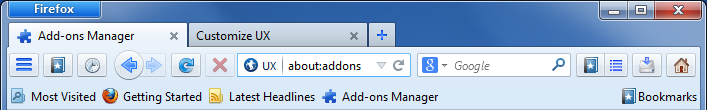 The future of Firefox? - Australis: Iconsets for toolbar buttons on