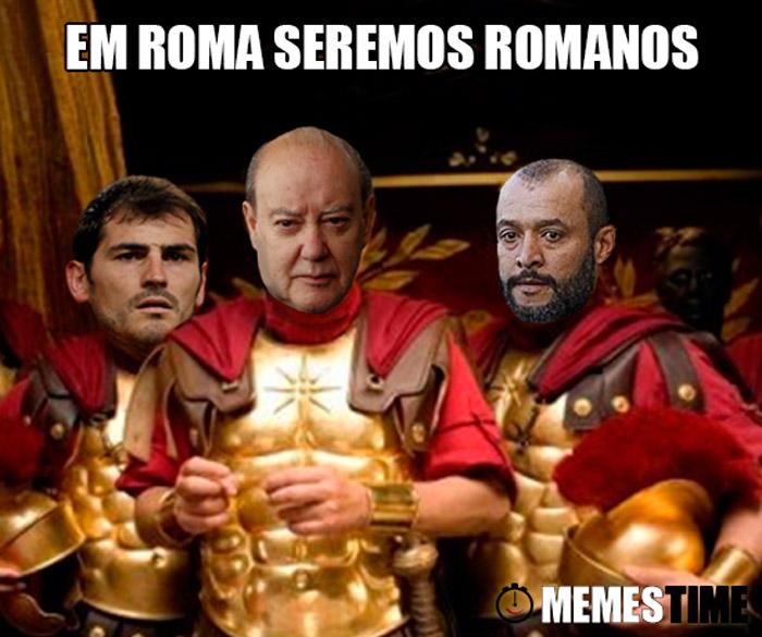 Memes Time Pinto da Costa, Nuno Espírito Santos e Casillas – Em Roma seremos Romanos