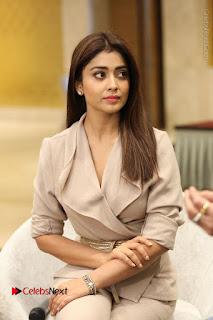 Actress Shriya Saran Stills in Stylish Dress at Gautamiputra Satakarni Team Press Meet  0075.JPG