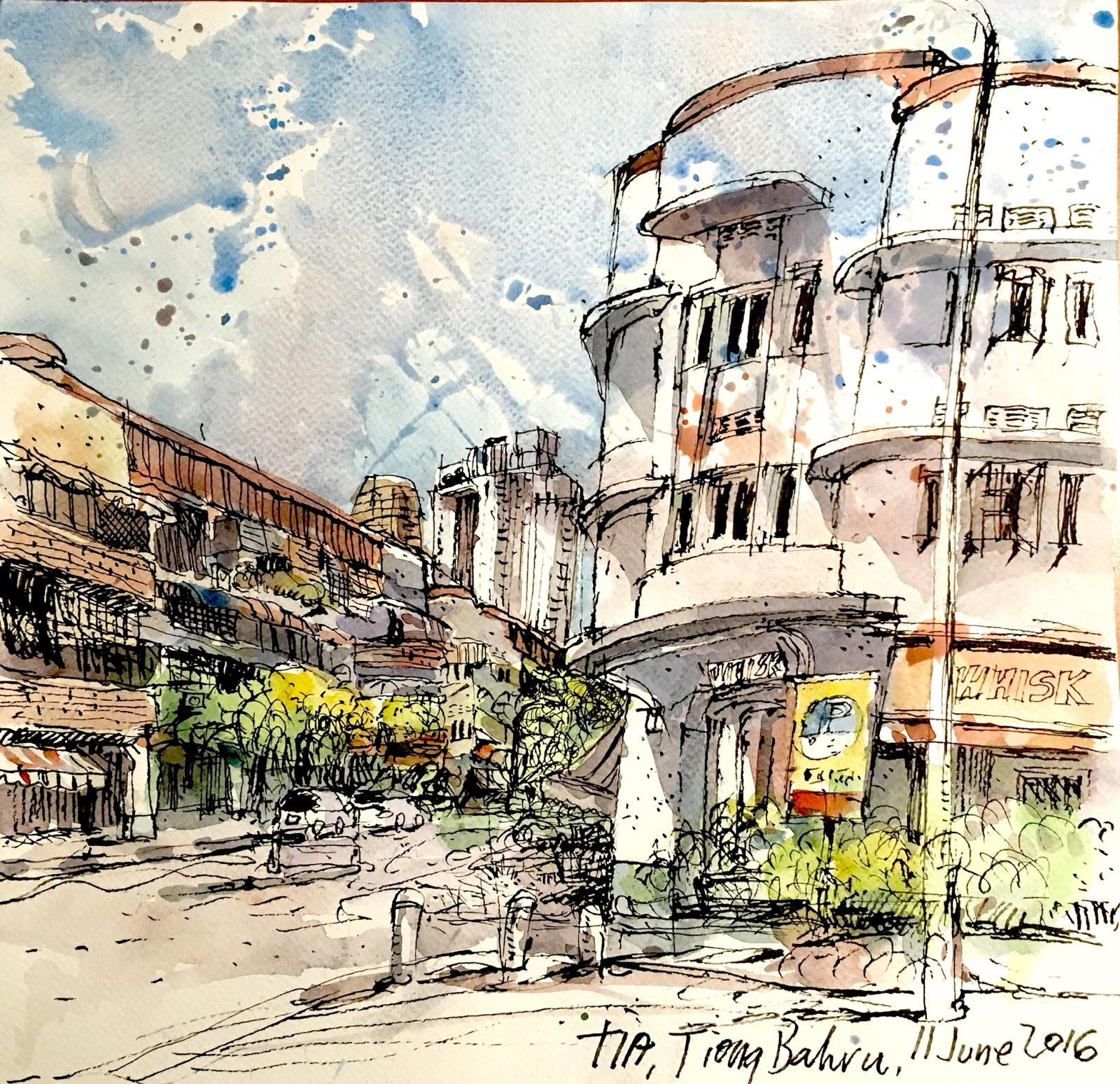 Sketch at the same spot again at tiong bahru