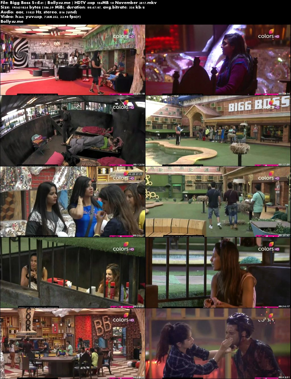 Bigg Boss S11E41 HDTV 480p 150MB 11 November 2017 Download